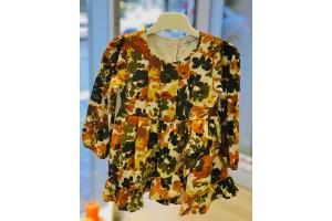 Batik Çiçekli Elbise
